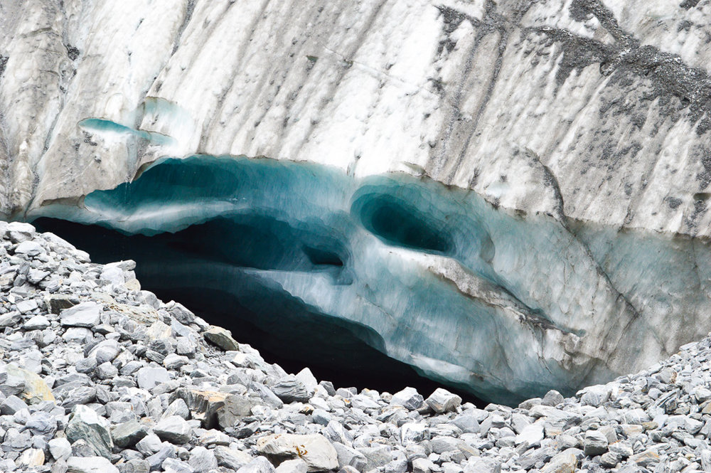 close up of snow and ice glacier
