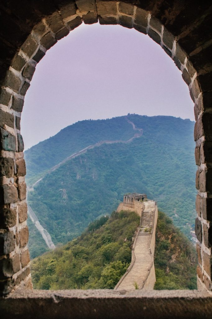 arched window of the great wall of china