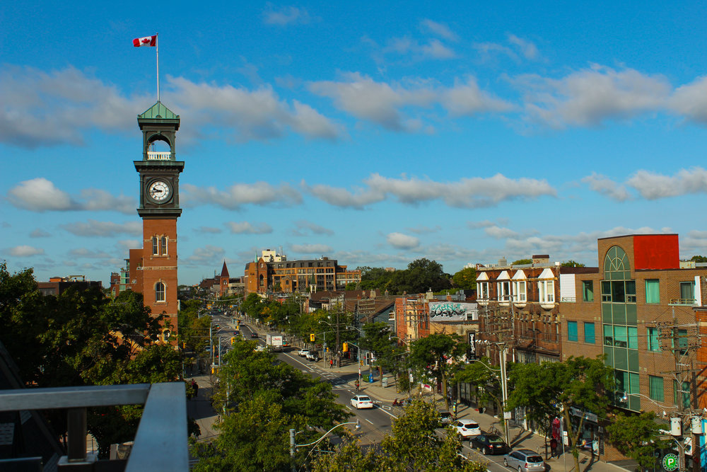 tornonto kensington market in canada from rooftops