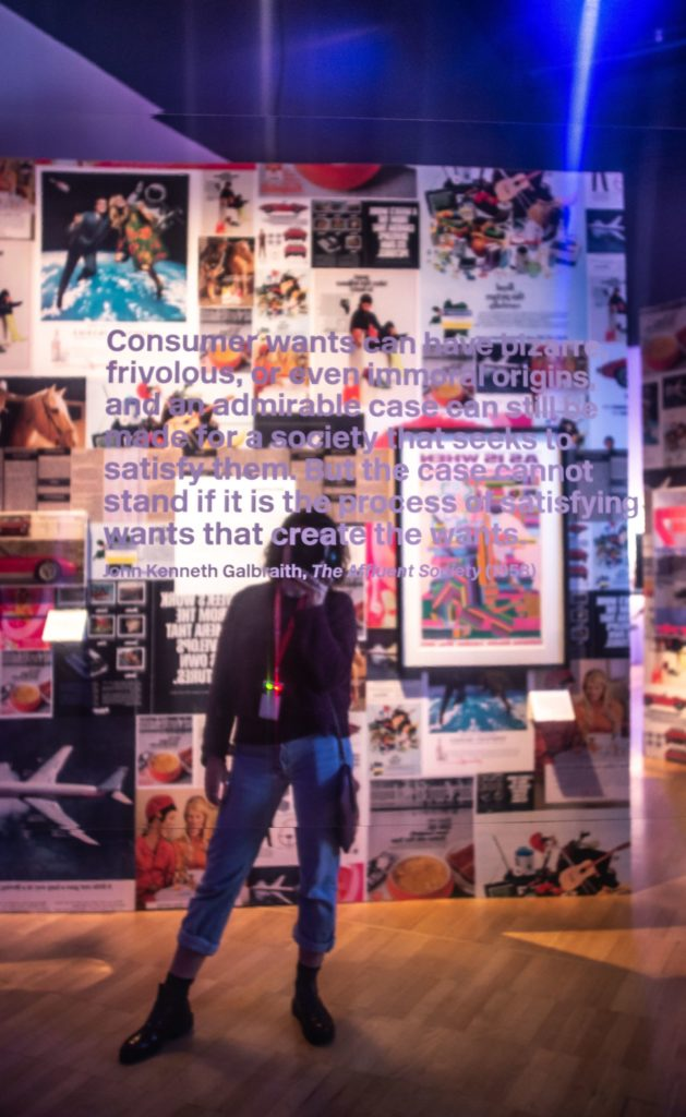 mirror selfie at the Records and Rebels Exhibition at Melbourne Museum