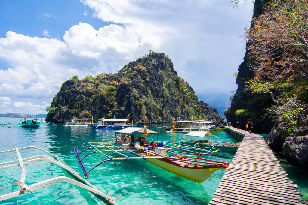 boat on lagoon in the Philippines