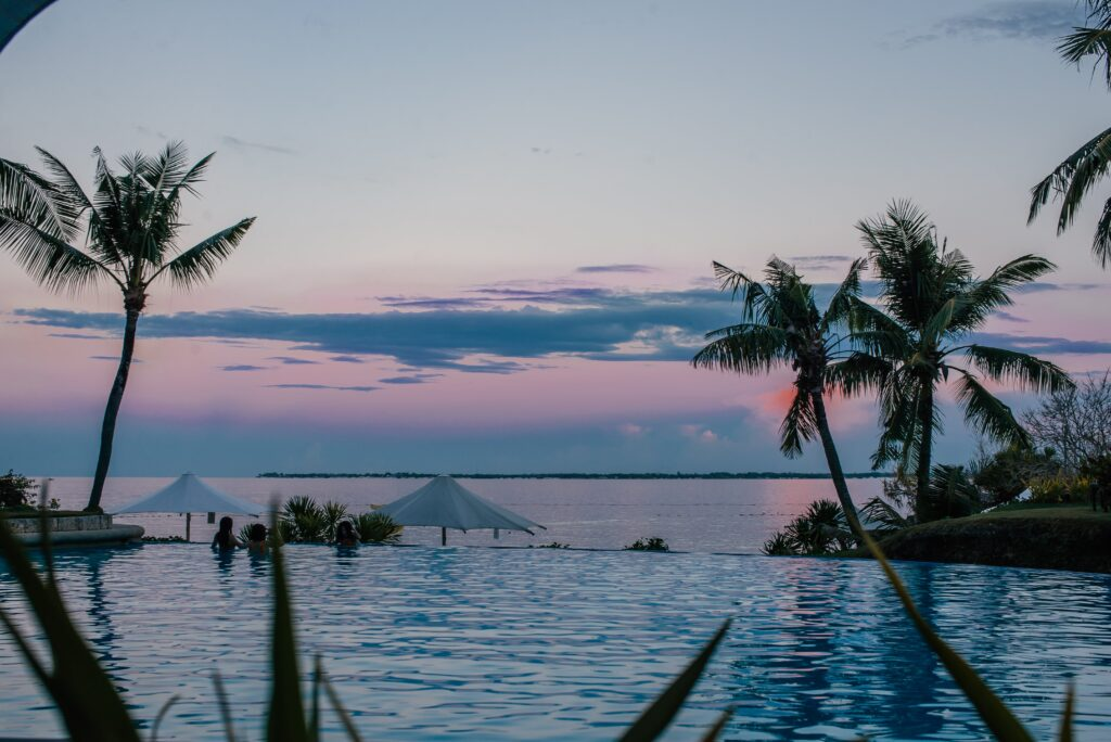 infinity pool at resort in the philippines