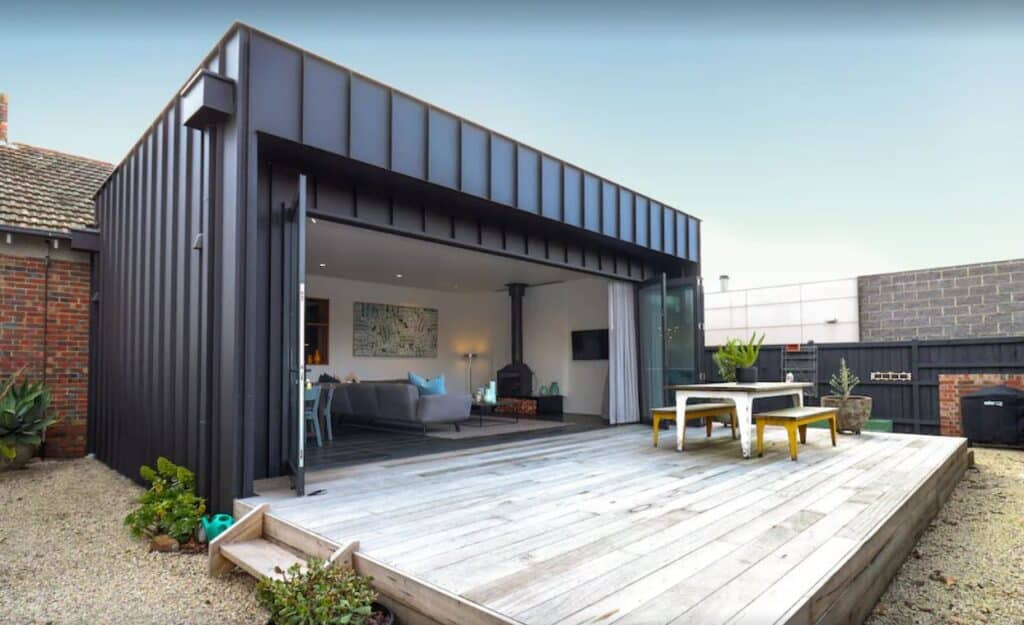 modern extension onto a historic rental property in Victoria