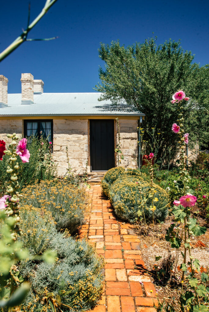 historic mining cottage from 1850 with cottage garden