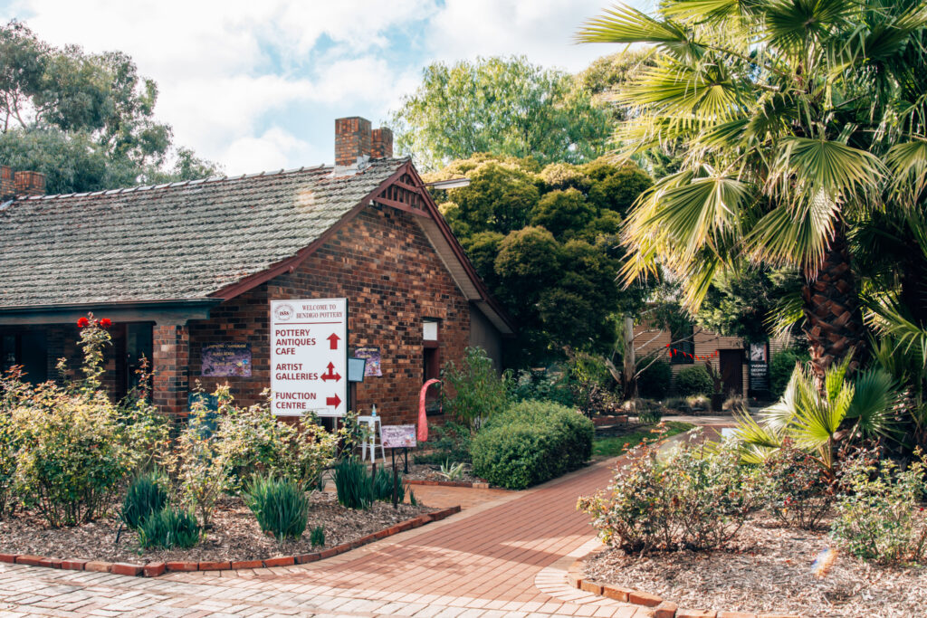 outside of the bendigo pottery complex buildings